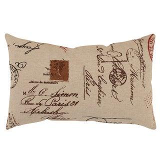 Pillow Perfect French Postale Rectangular Throw Pillow