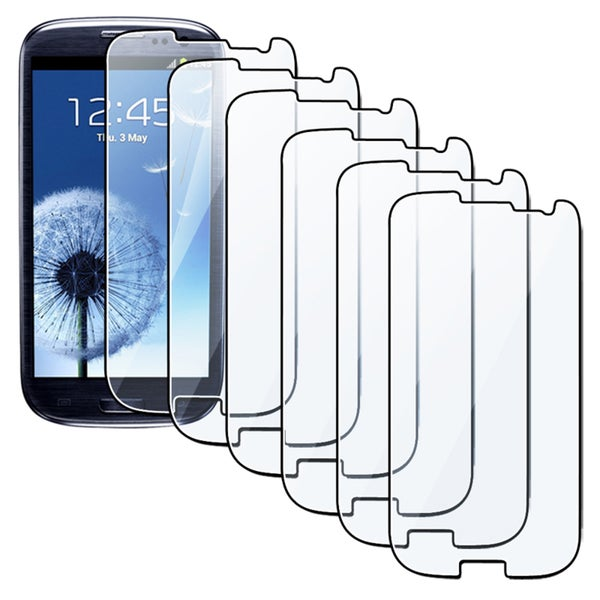 Insten Clear/ Anti-glare Screen Protector for Samsung Galaxy S III/ S3 i9300 (Pack of 6)