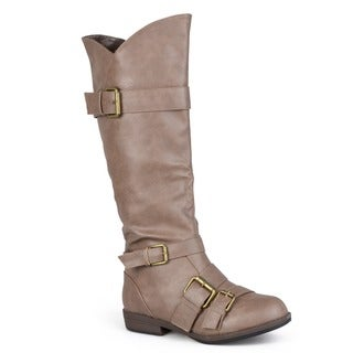 Hailey Jeans Co. Women's 'Rachel' Regular and Wide-calf Knee-high Buckle-strap Riding Boot