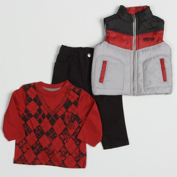 Kenneth Cole Infant Boy's 3-piece Puffer Vest and Pant Set