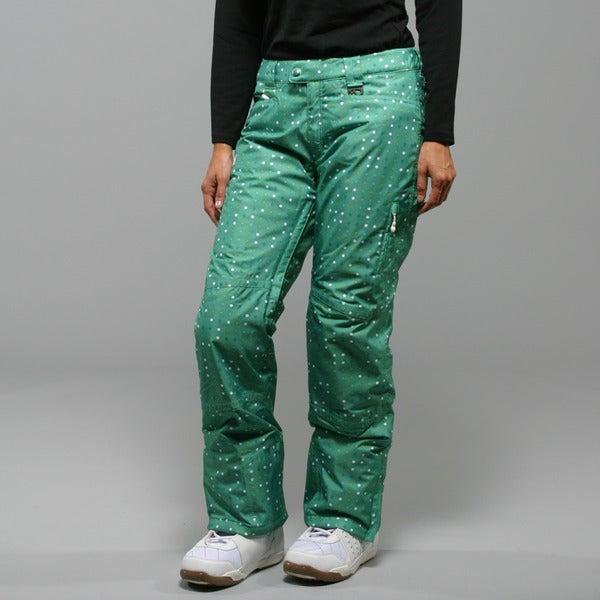 Marker Women's Morning Star Insulated Green Ski Pant