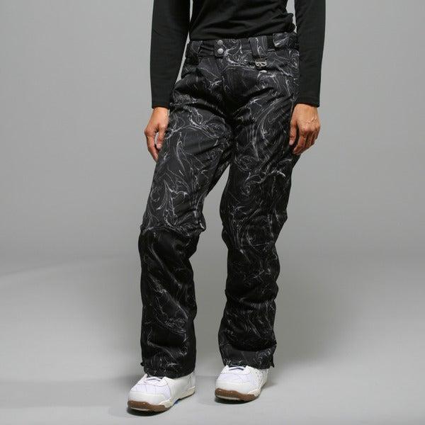 Marker Women's Inspiration Insulated Black Swirl Ski Pants