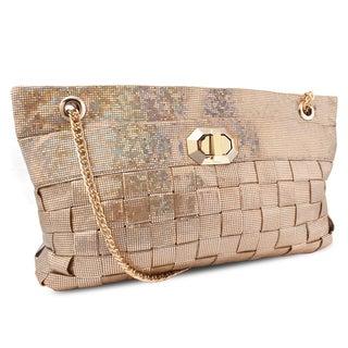 M by Miadora 'Lucille' Gold Woven Shoulder Bag