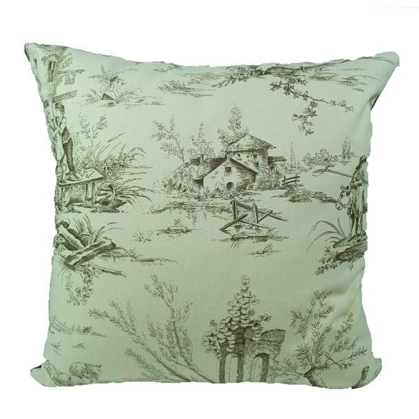 French Village Café Decorative Pillow