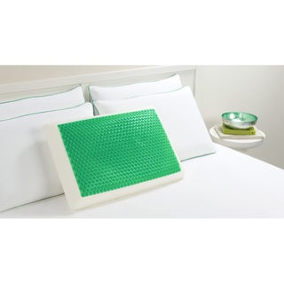 Comfort Memories Green Bubble Memory Foam Pillow