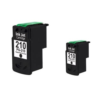 INSTEN Canon PG-210 Black Ink Cartridge for Canon Pixma MX350/ MP495 (Remanufactured) (Pack of 2)