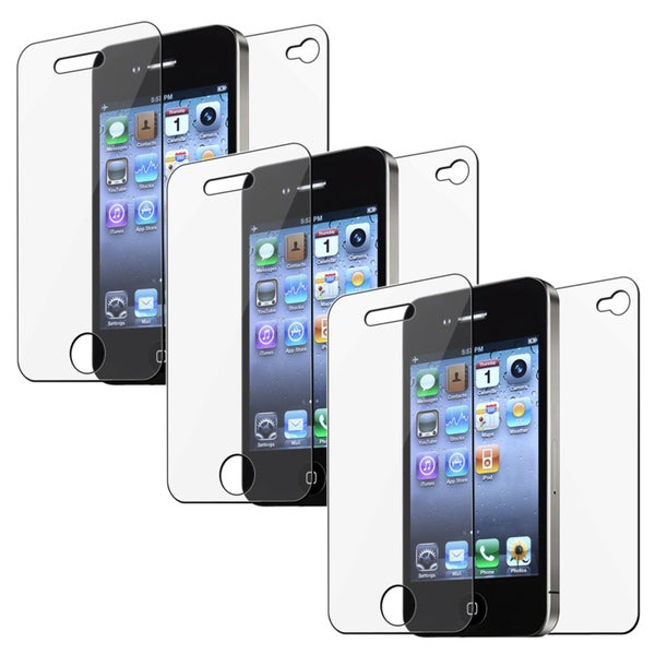 INSTEN Clear Screen Protector for Apple iPhone 4/ 4S (Pack of 3)