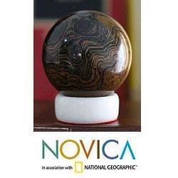 Handcrafted Stromatolite 'Pluto' Sphere (Peru)