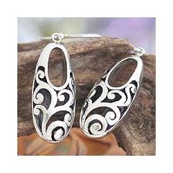 Sterling Silver 'Karangasem Castle' Earrings (Indonesia)