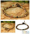 Handcrafted Brass 'Color Harmony' Jasper Bracelet (Thailand)
