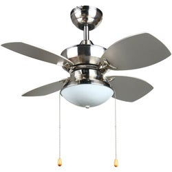 Transitional 28-inch Ceiling fan in Brushed Nickel
