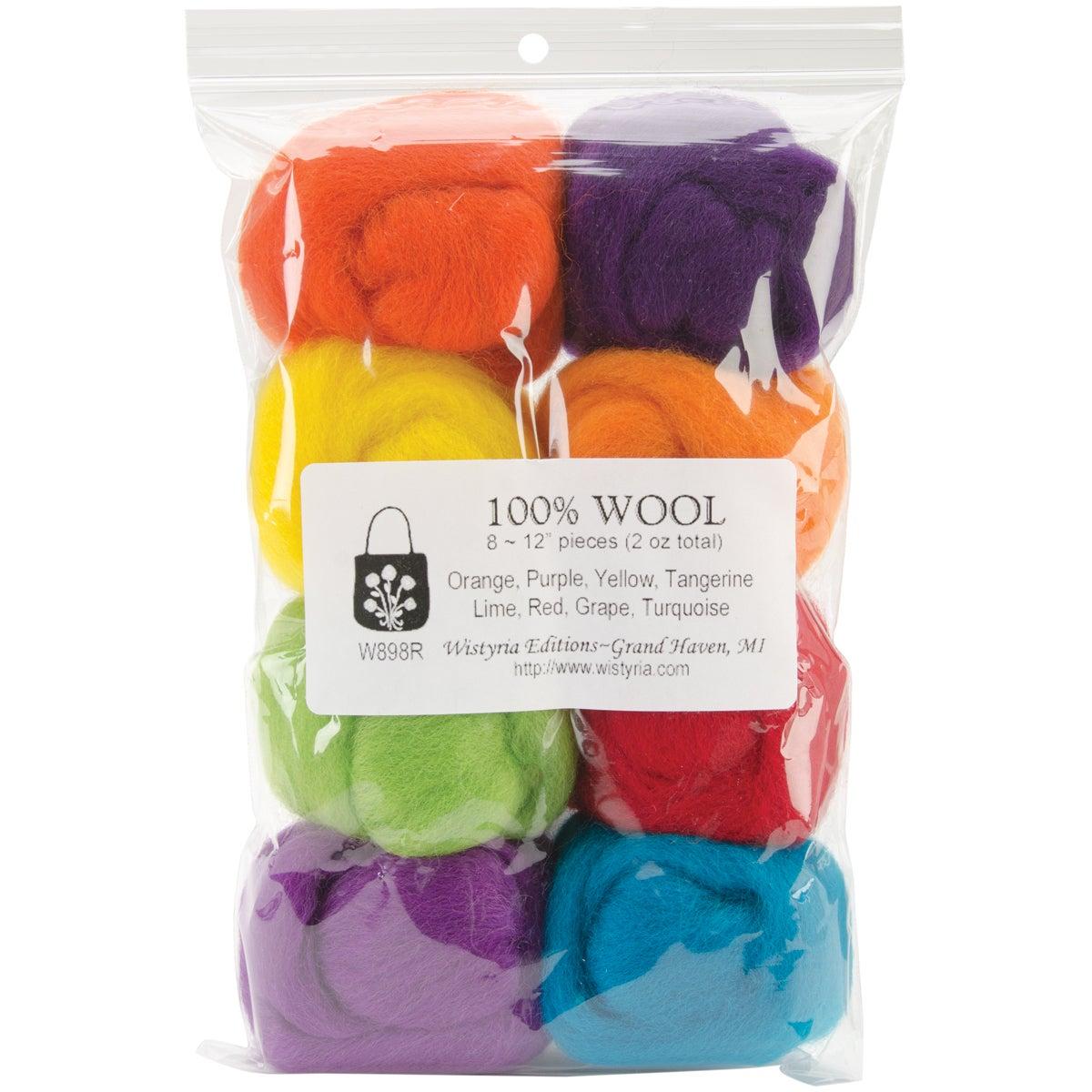 Fiesta .25-ounce Wool Roving (Pack of 8)