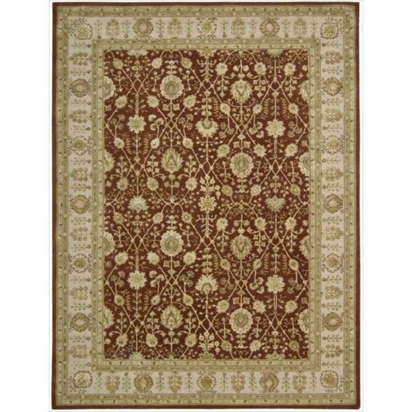 Nourison 3000 Hand-tufted Rust Wool Rug (8'6 x 11'6)