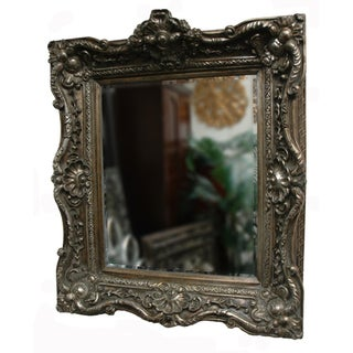 Rustic Silver Traditional Decorative Framed Mirror