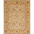 Safavieh Handmade Heritage Kerman Grey/ Gold Wool Rug (4' x 6')