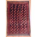 Persian Hand-knotted Balouchi Brown/ Red Wool Rug (4&#39;7 x 7&#39;)