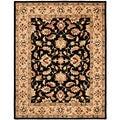 Safavieh Handmade Heritage Kerman Black/ Gold Wool Rug (9' x 12')