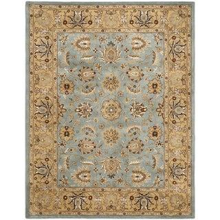 Safavieh Handmade Heritage Mahal Blue/ Gold Wool Rug (9' x 12')