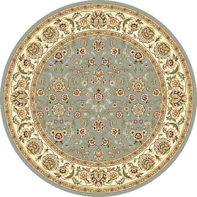 Safavieh lyndhurst floral motif greyish blue ivory rug 4 round