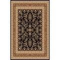 Safavieh Lyndhurst Collection Black/ Tan Rug (9' x 12')