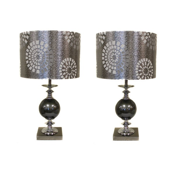 Casa Cortes Malibu Metallic 22-inch Table Lamps (Set of 2)