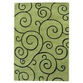 Alliyah Hand Made Tufted Lime Green New Zealand Blend Wool Rug 9' x 12'