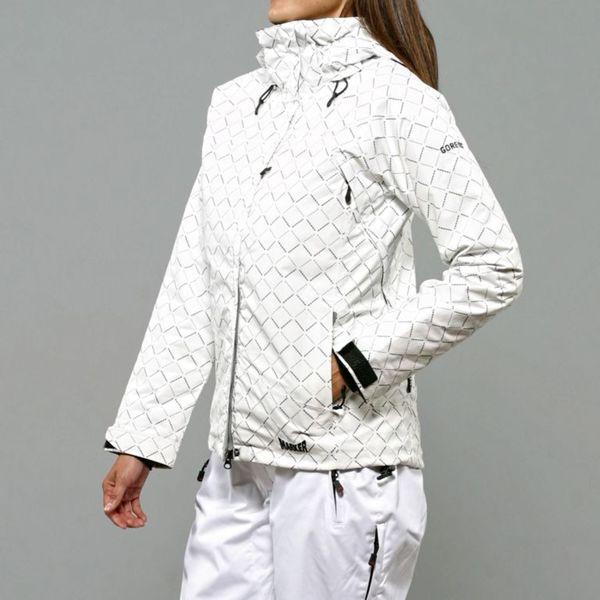 Marker Women's Cosmo Insulated White Diamond Print Ski Jacket