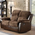 TRIBECCA HOME Coleford Coffee Double Reclining Loveseat