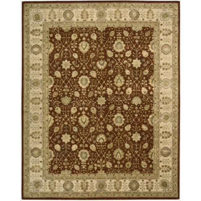 Nourison 3000 Hand-tufted Rust Wool Rug (12' x 15')