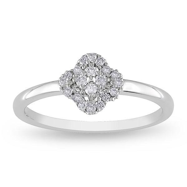 Miadora Sterling Silver 1/6ct TDW Diamond Ring (H-I, I2-I3)