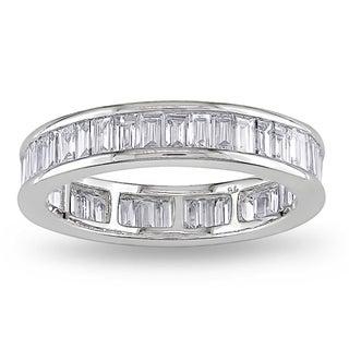 Miadora 18k White Gold 2ct TDW Diamond Eternity Ring (G-H, VS1-VS2)