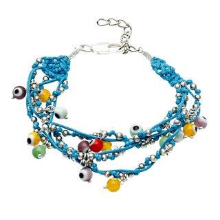 Evil Eye Multi-strand Multi-colored  Bracelet (Guatemala)