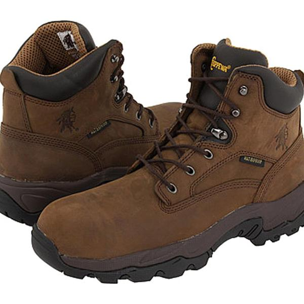 "Chippewa Men's 'XW 6"" Comp Toe Lace Up' Leather Boots Wide (Size 8.5)"