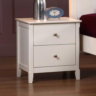 White Catalina 2-drawer Nightstand