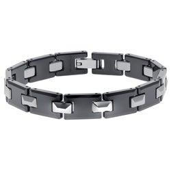 Tungsten and Ceramic Men's Link Bracelet