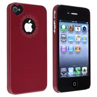 INSTEN Red Sweetheart Snap-on Phone Case Cover for Apple iPhone 4/ 4S