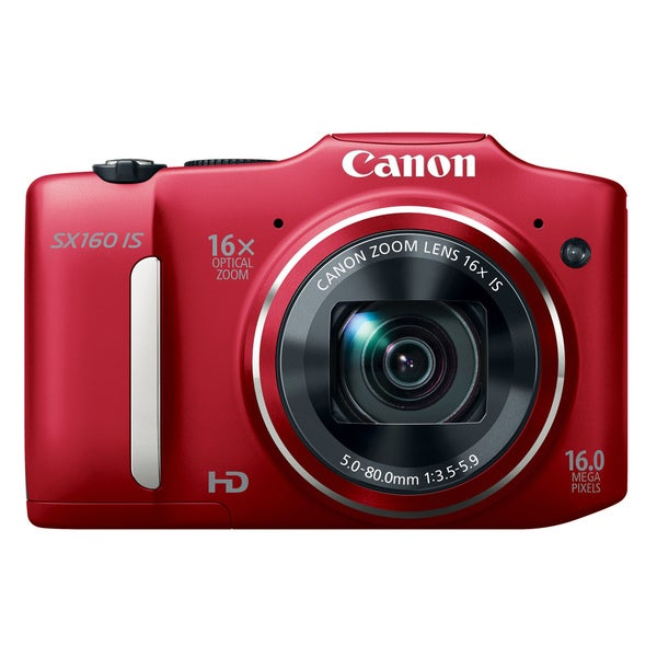 Canon PowerShot SX160 IS 16MP Red Digital Camera
