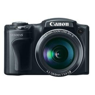 Canon PowerShot SX500 IS 16MP Black Digital Camera