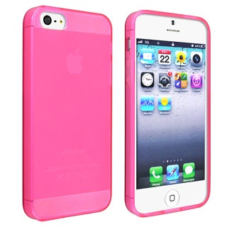 INSTEN Frost Clear Hot Pink TPU Phone Case Cover for Apple iPhone 5