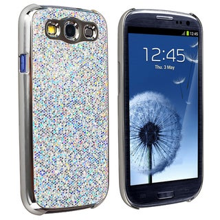 INSTEN Silver Glitter Phone Case Cover for Samsung Galaxy S III/ S3 i9300