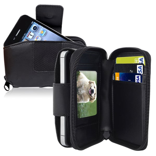 INSTEN Larger Wallet Leather Phone Case Cover with Credit Card Holder and Clip