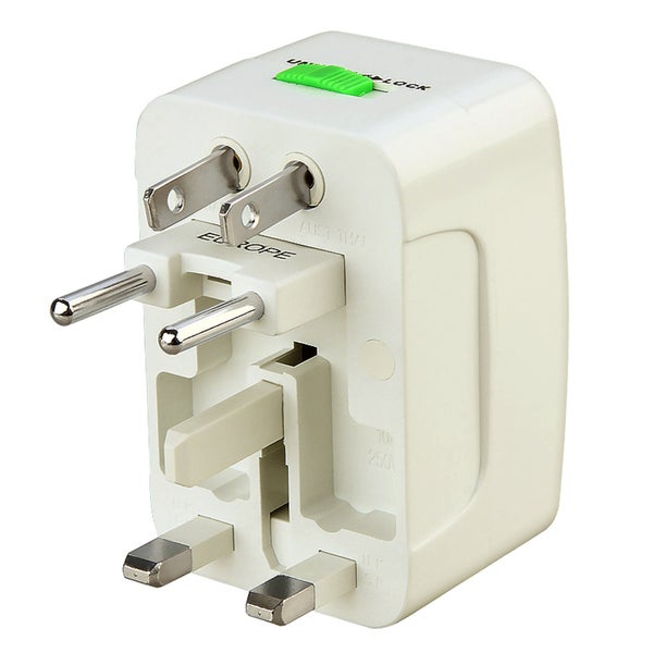 INSTEN White World Wide Travel Charger Adapter Plug