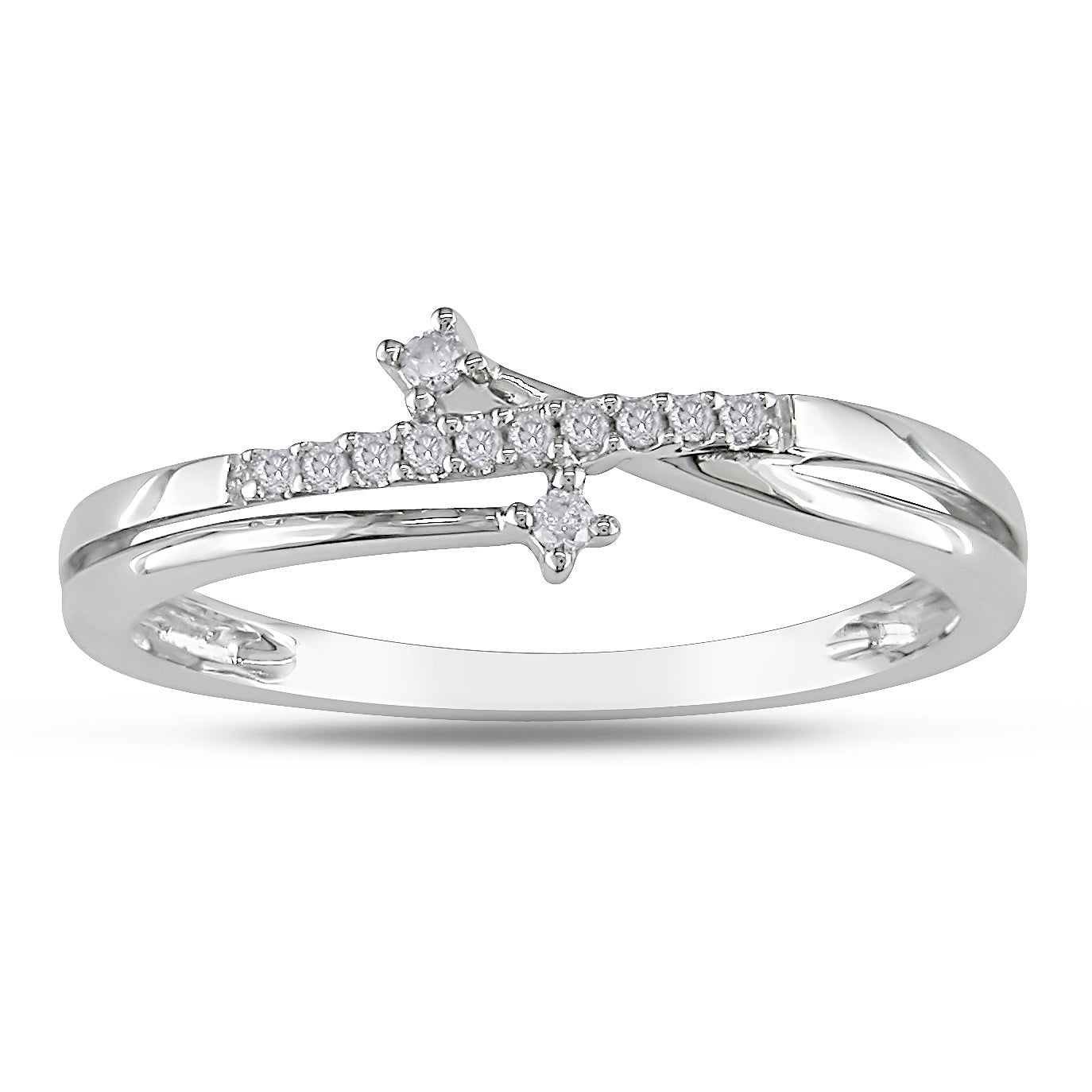 Haylee Jewels 10k White Gold Diamond Accent Ring