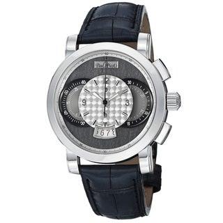 Paul Picot Men's P0334-2Q.SG.1032.A3201 'Technograph' Grey Dial Chronograph Automatic Watch