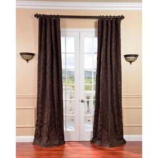 Medici Black/ Pewter Faux Silk Jacquard Curtains