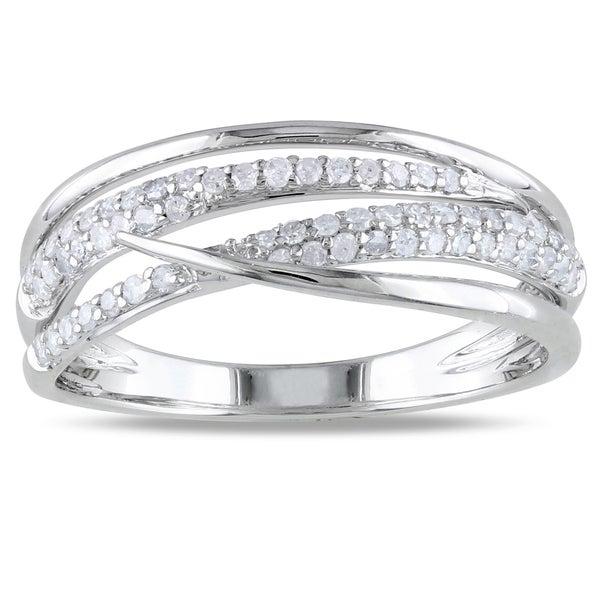 Miadora 14k White Gold 1/3ct TDW Diamond Ring (H-I, I2-I3)