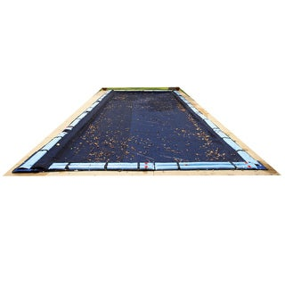 Dirt Defender 16-ft x 24-ft Rectangular Leaf Net In Ground Pool Cover