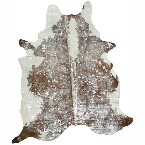 nuLOOM Hand-picked Brown Cowhide Leather Rug (5' x 7')