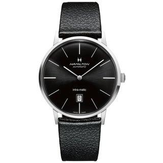 Hamilton Men's H38755731 Intra-Matic Black Automatic Watch