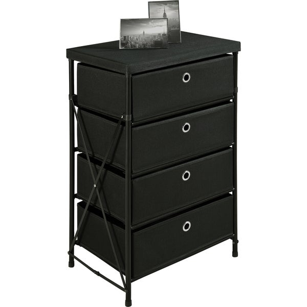 Altra Black Four Bin Vertical Storage